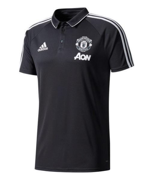 adidas マンチェスターユナイテッド 17/18 トレーニング ポロシャツ Black 1