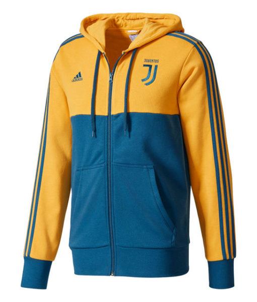 adidas ユベントス 17/18 3ストライプ フルジップ パーカー Yellow 1