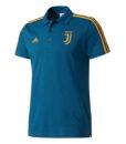 adidas ユベントス 17/18 3ストライプ ポロシャツ Blue