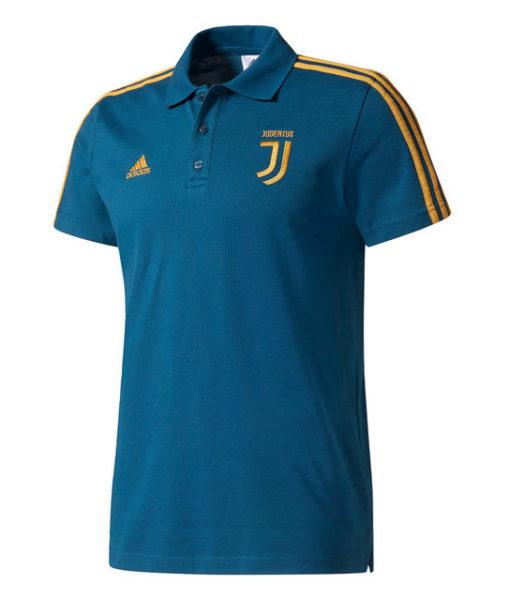 adidas ユベントス 17/18 3ストライプ ポロシャツ Blue 1
