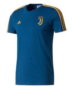 adidas ユベントス 17/18 3ストライプ Tシャツ Blue