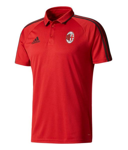 adidas ACミラン 17/18 トレーニング ポロシャツ Red 1