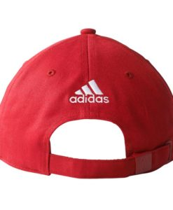 adidas ACミラン 17/18 3ストライプ ベースボール キャップ Red