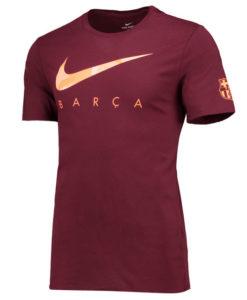 NIKE FCバルセロナ 17/18 プレシーズン Tシャツ  Maroon