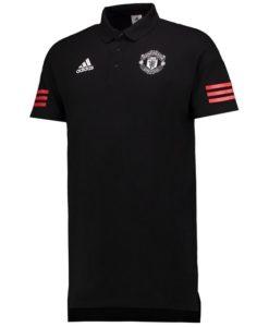 adidas マンチェスターユナイテッド 17/18 UEFA CL トレーニング ポロシャツ Black
