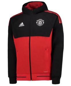 adidas マンチェスターユナイテッド 17/18 UEFA CL トレーニング プレゼンテーション ジャケット Red