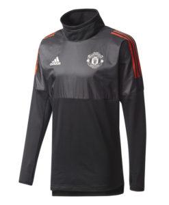 adidas マンチェスターユナイテッド 17/18 UEFA CL トレーニング ハイブリッド トップ Black