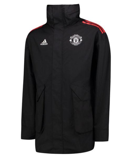 adidas マンチェスターユナイテッド 17/18 UEFA CL トレーニング オールウェザージャケット Black 1