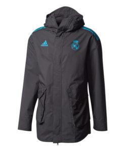 adidas レアルマドリード 17/18 UEFA CL トレーニング オールウェザージャケット Black