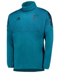 adidas レアルマドリード 17/18 UEFA CL トレーニング ハイブリッド トップ Blue