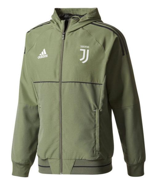 adidas ユベントス 17/18 UEFA CL トレーニング プレゼンテーション ジャケット Green 1