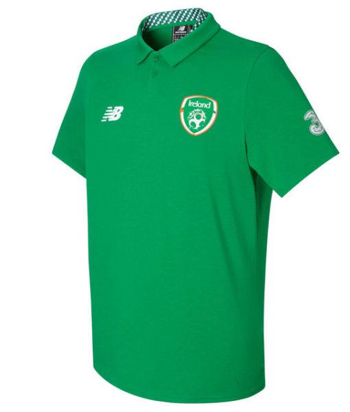 New Balance アイルランド 17/18 エリート メディア モーション ポロシャツ Green 1