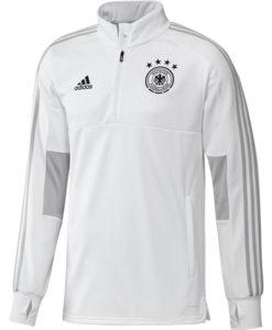 adidas ドイツ 17/18 トレーニング クォータージップ トップ White