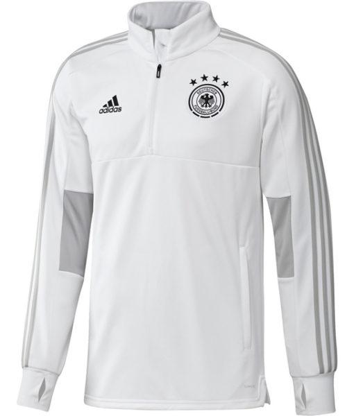 adidas ドイツ 17/18 トレーニング クォータージップ トップ White 1