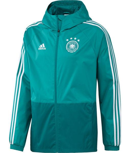 adidas ドイツ 17/18 トレーニング レイン ジャケット Green 1