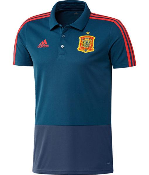 adidas スペイン 17/18 トレーニング ポロシャツ Blue 1