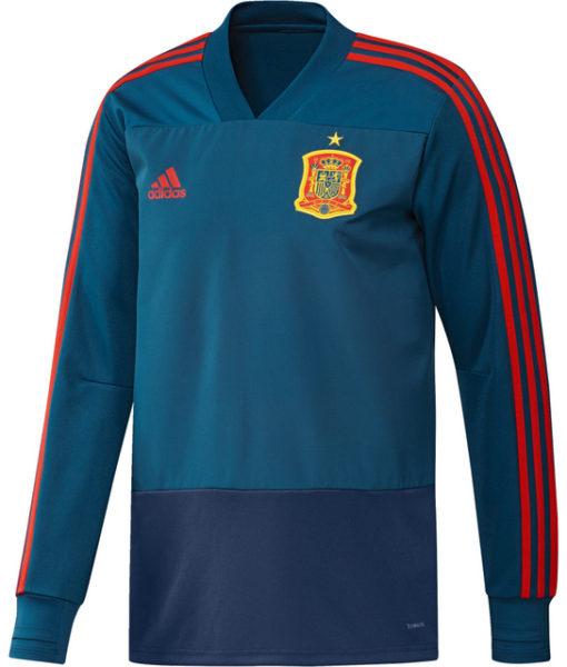adidas スペイン 17/18 トレーニング トップ Blue 1