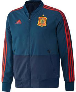 adidas スペイン 17/18 トレーニング プレゼンテーション ジャケット Blue