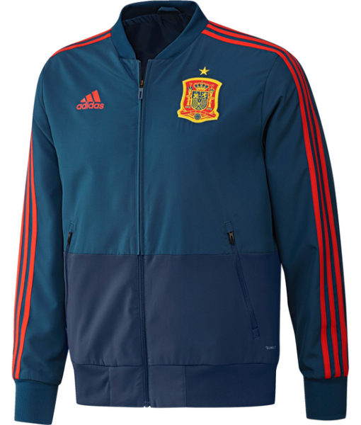 adidas スペイン 17/18 トレーニング プレゼンテーション ジャケット Blue 1