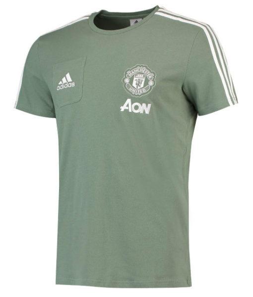 adidas マンチェスターユナイテッド 17/18 トレーニング Tシャツ Green 1