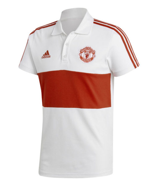 adidas マンチェスターユナイテッド 17/18 3ストライプ ポロシャツ Red 1