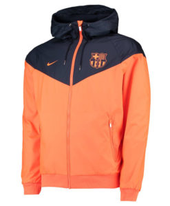 NIKE FCバルセロナ 17/18 オーセンティック ウインドランナー ジャケット Orange