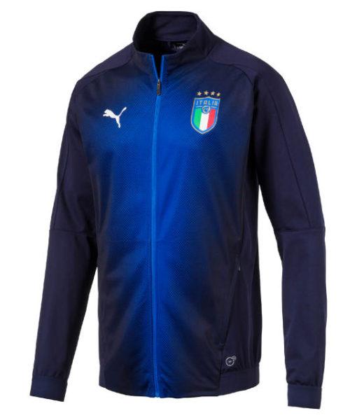 PUMA イタリア 2018 スタジアム ジャケット Navy 1