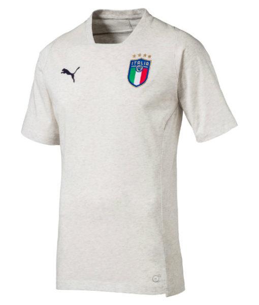 PUMA イタリア 2018 カジュアル Tシャツ White 1