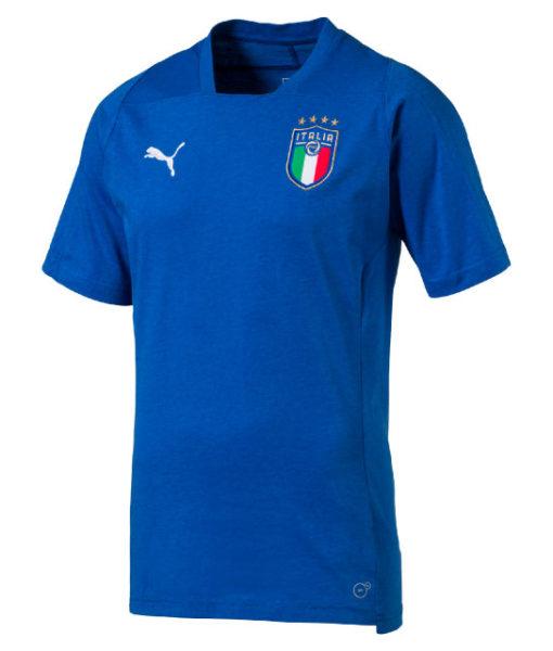 PUMA イタリア 2018 カジュアル Tシャツ Blue 1