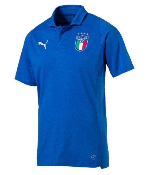 PUMA イタリア 2018 カジュアル ポロシャツ Blue 1