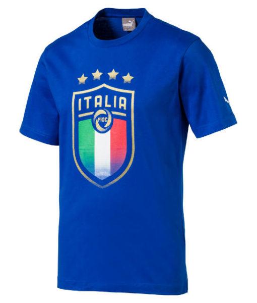 PUMA イタリア 2018 エンブレム Tシャツ Blue 1