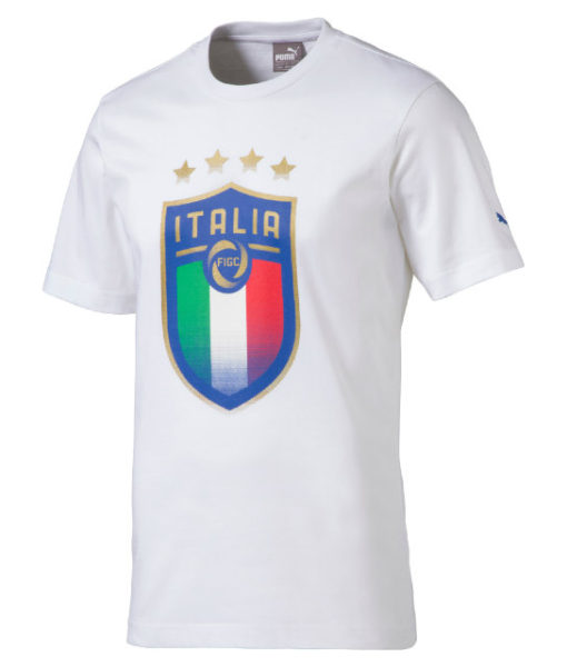 PUMA イタリア 2018 エンブレム Tシャツ White 1