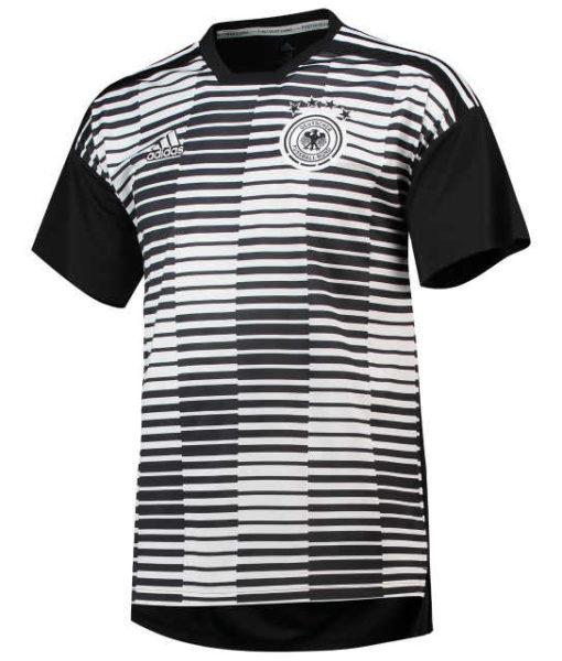 adidas ドイツ 2018 ホーム プレマッチ シャツ White 1
