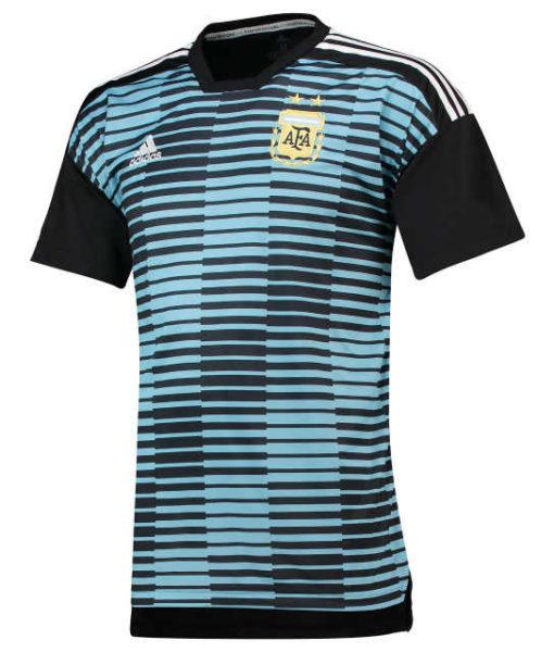 adidas アルゼンチン 2018 ホーム プレマッチ シャツ Blue 1