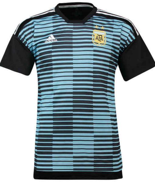 adidas アルゼンチン 2018 ホーム プレマッチ シャツ Blue