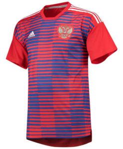 adidas ロシア 2018 ホーム プレマッチ シャツ Red