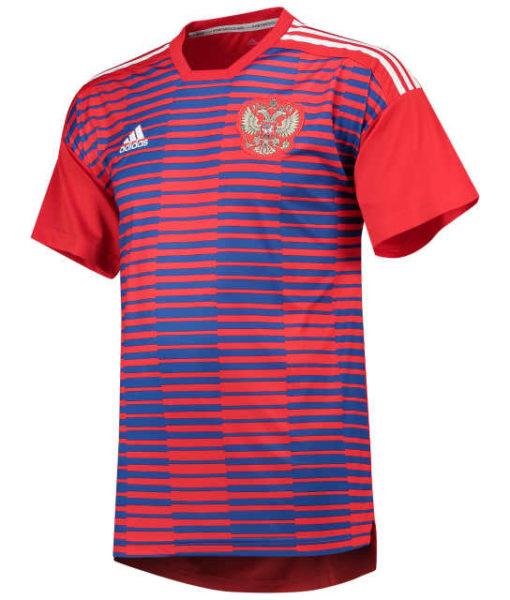 adidas ロシア 2018 ホーム プレマッチ シャツ Red 1