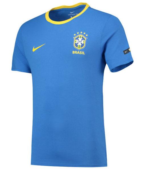 NIKE ブラジル 2018 エンブレム Tシャツ Blue 1