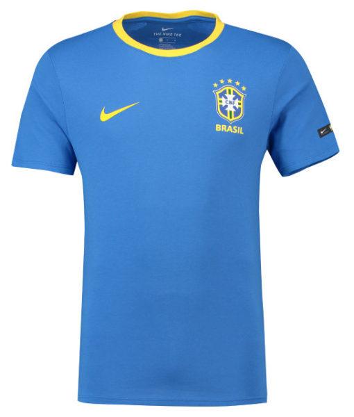 NIKE ブラジル 2018 エンブレム Tシャツ Blue