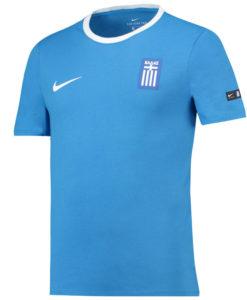 NIKE ギリシャ 2018 エンブレム Tシャツ Blue