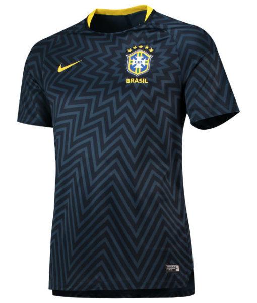 NIKE ブラジル 2018 Squad グラフィック トレーニング トップ Navy 1