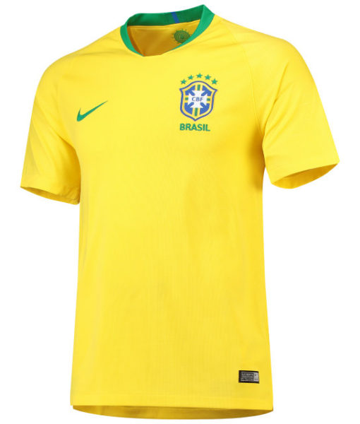 NIKE ブラジル 2018 ホーム スタジアム シャツ  1