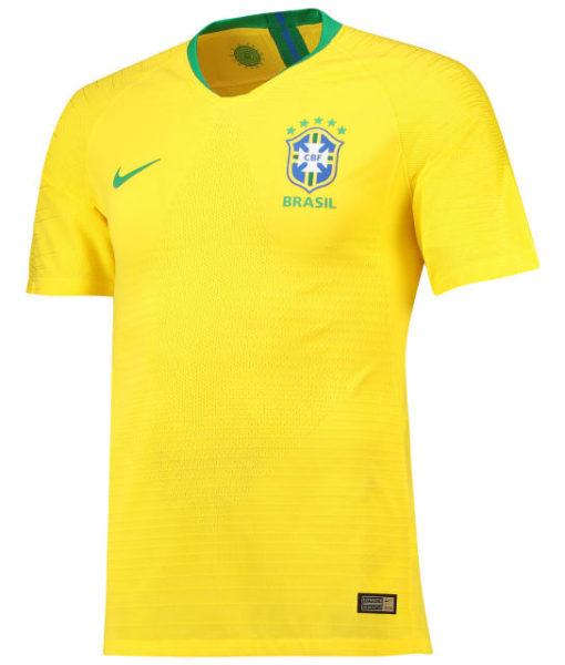 NIKE ブラジル 2018 ホーム ヴェイパーマッチ シャツ  1