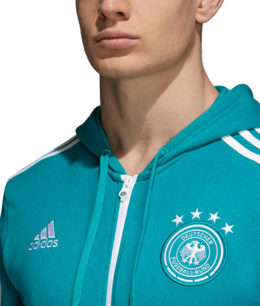 adidas ドイツ 2018 3ストライプ フルジップ パーカー Green