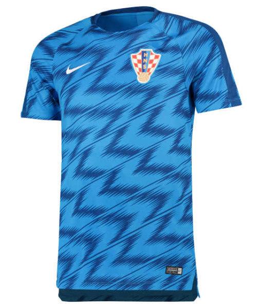 NIKE クロアチア 2018 Squad グラフィック トレーニング トップ Blue 1