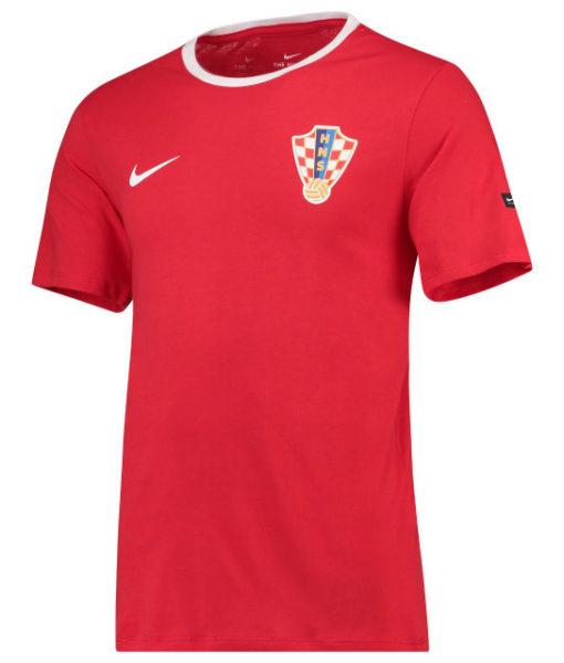 NIKE クロアチア 2018 エンブレム Tシャツ Red 1