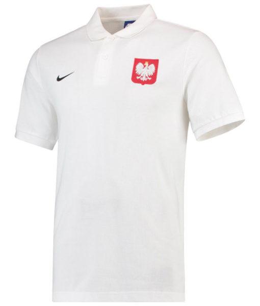 NIKE ポーランド 2018 コア ポロシャツ White 1