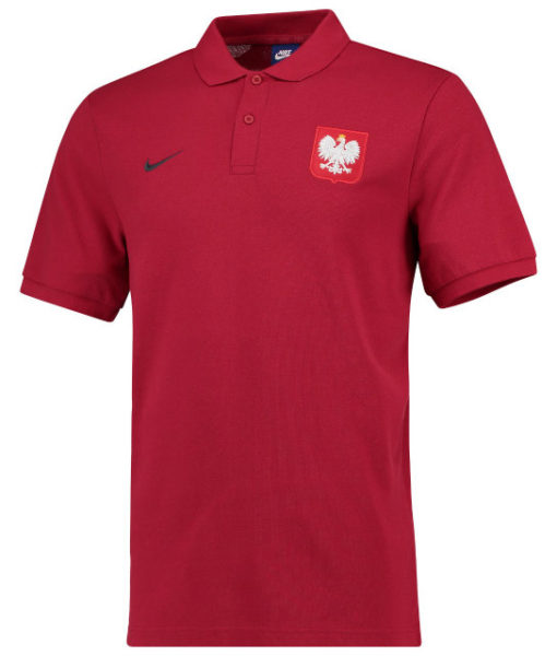 NIKE ポーランド 2018 コア ポロシャツ Red 1