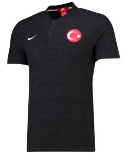 NIKE トルコ 2018 オーセンティック グランドスラム ポロシャツ Black