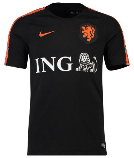 NIKE オランダ 2018/19 Squad トレーニング トップ Black
